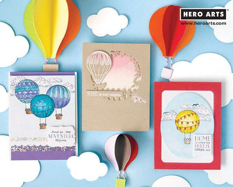 Hero Arts - Hot Air Balloons Infinity Dies