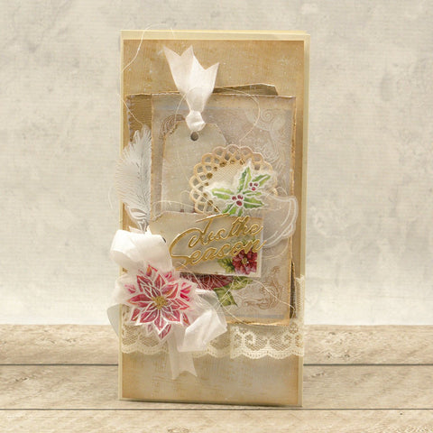 Couture Creations - The Gift of Giving Collection - Mini Stamp - Ribbon & Holly