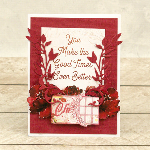 Couture Creations - Blooming Friendship - Mini Stamp - Chocolate Wrapper