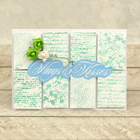 Couture Creations - Blooming Friendship - Stamp Set - Backgrounds and Borders (7 piece)