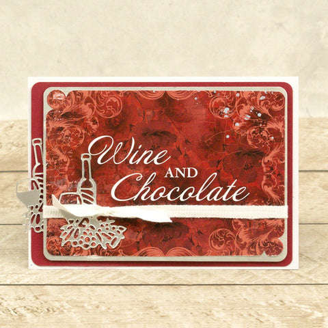 Couture Creations - Blooming Friendship - Mini Die - Wine and Dine