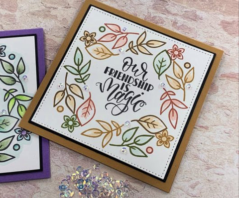 Gina K Designs - Stained Glass Flowers Stamp Set