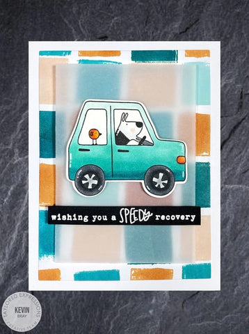 Taylored Expressions - Gus & Gertie Ride On Stamp Set