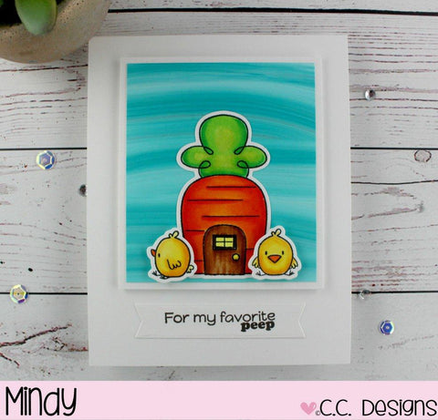 C. C Design Easter Town Stamp and Die Set