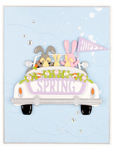 Spellbinders - Hoppy Sunday Drive Etched Dies from Expressions of Spring Collection