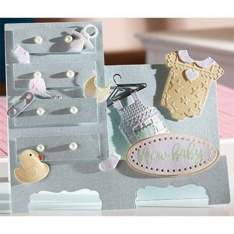 Crafters Companion - Sara Signature Little Angel - Metal Dies - My First Outfit