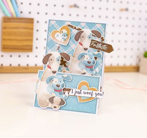 "Nitwit Pawsitivity - 6"" Die-Cut Decoupage Topper Pad - For the Love of Dogs"