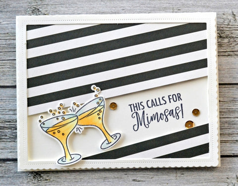 Avery Elle Mimosas Clear Stamp and Die Sets