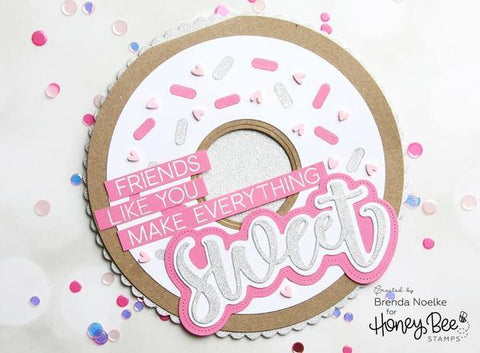 Honey Bee Stamps - Donut Card - Honey Cuts