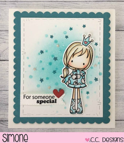 C.C. Designs Spring Pinkies Clear Stamp and Spring Pinkies Outline Metal Die