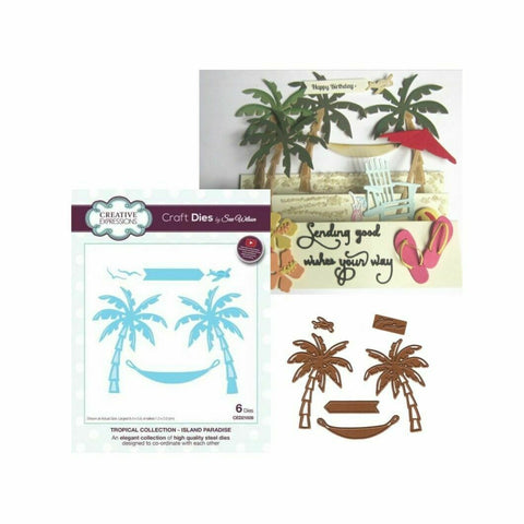 Creative Expressions Sue Wilson Tropical Collection - Island Paradise Die Set