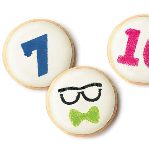 Sweet Sugarbelle - Cookie Stencil - Expressions and Numbers (6 pieces)