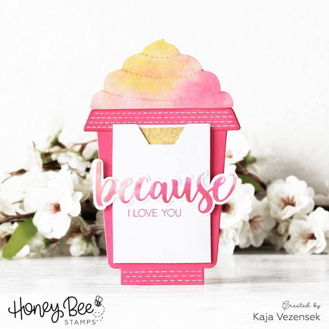 Honey Bee Stamps - Frappe Shake Card - Honey Cuts