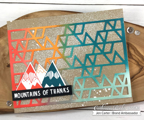 Catherine Pooler - Mountain of Thanks Stamp and Dies