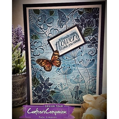 Crafters Companion TEXTURES Embossing Folder 5x7 Cut n Boss Big Shot 8 Designs