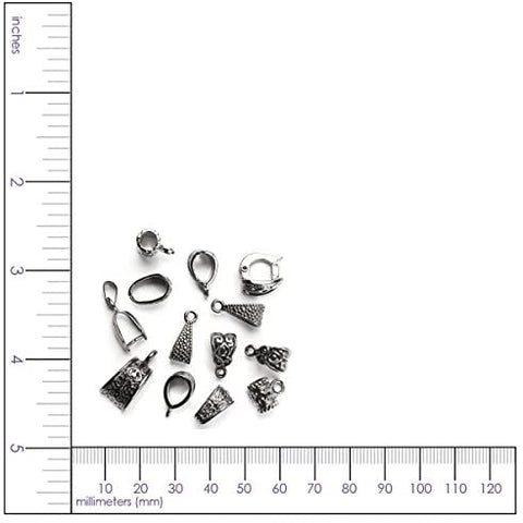 Cousin® - Jewelry Basics Metal Findings 13/Pkg - Silver Mixed Bail Pack