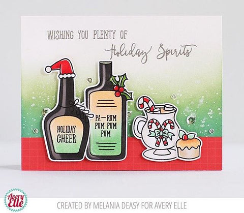 Avery Elle Holiday Spirits Clear Stamp and Die Sets
