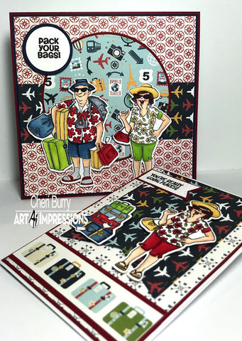 Art Impressions - Pack Your Bags Stamp Set