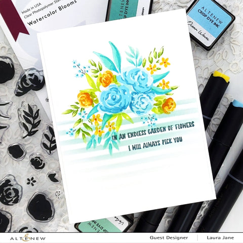 Altenew - Watercolor Blooms Stamp and Die