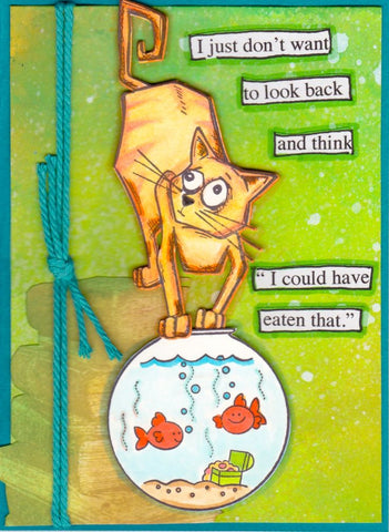 Ranger -Tim Holtz - Crazy Cats Stamp and Die