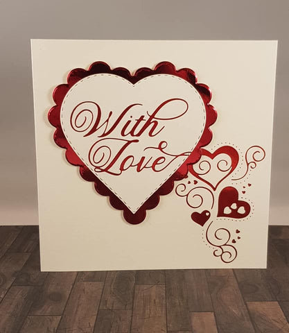Crafter's Companion - Gemini Elements Metal Die - Scalloped Edge Heart