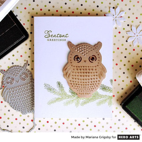 Hero Arts - Paper Layering Dies Owl With Frame
