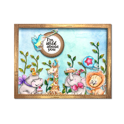 Art Impressions - Baby Critters Stamp and Die Set