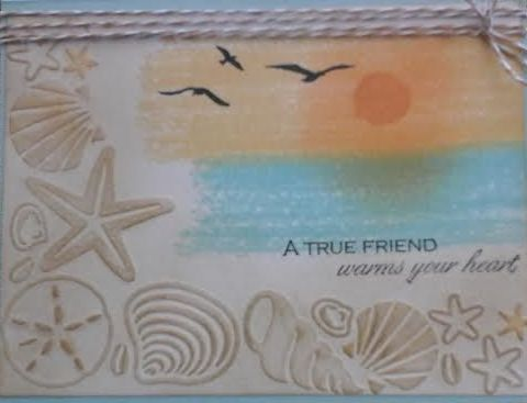 Darice Shell Corner Embossing Folder