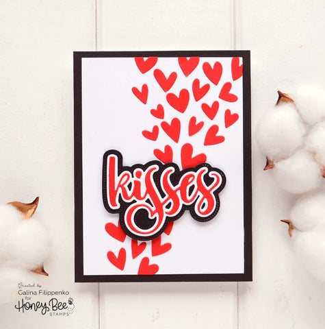 Honey Bee - Kisses | 3x4 Stamp Set