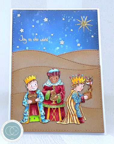 Craft Consortium A5 Clear Stamps - Nativity - Three Wise Men