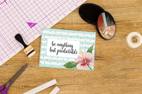 Crafter's Companion - Clear Acrylic Quirky Stamp - Anything But Predictable