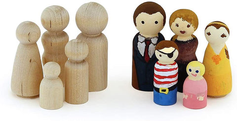 Hygloss - Wood People 40/Pkg - Assorted Shapes & Sizes