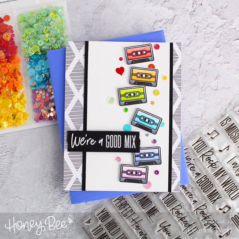 Honey Bee Stamps - Rockstar Sentiments Stamp and Die
