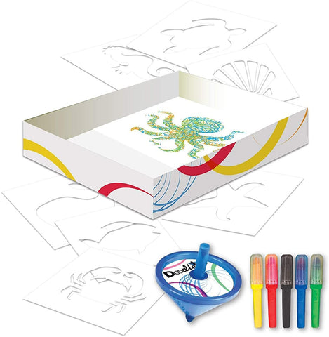 UCreate Doodletop Squiggly Stencil Kit - Sea Life