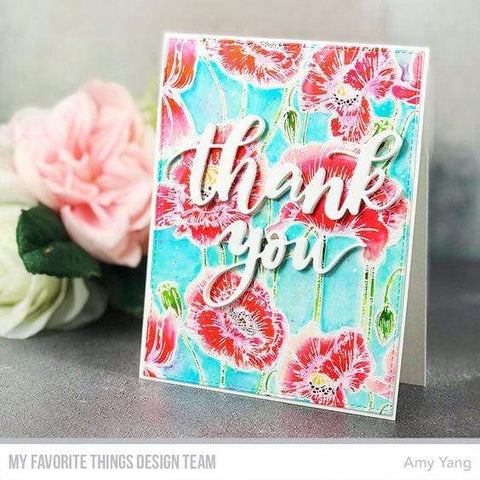 My Favorite Things - Poppies Background Stamp