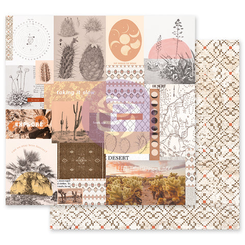 Prima Marketing - Golden Desert Collection 12x12 Single Sheets with foil details