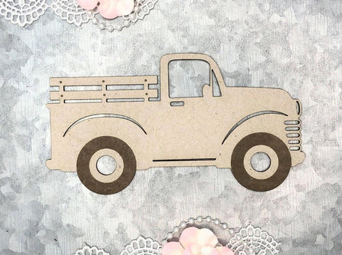 Scrapaholics - Laser Cut Chipboard 2mm Thick - Fancy Flakes - Vintage Truck