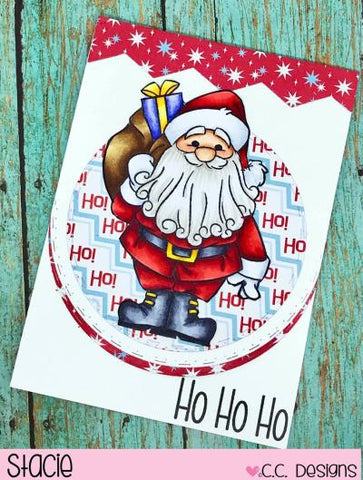 C.C. Designs - Santa Rubber Stamp