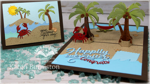 Karen Burniston - Tropical Scene Die Set