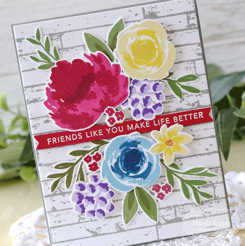 Taylored Expressions - Simple Strips Friendship Stamp