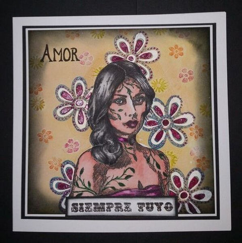Sheena Dougass Perfect Partners Day of the Dead Stamp & Die -Floral Fiesta