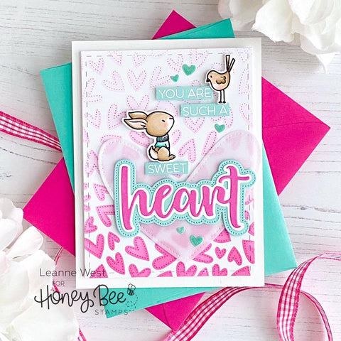 Honey Bee - Heart | 3x4 Stamp and Die