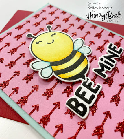 Honey Bee - Cupids Arrow | Background Stencil