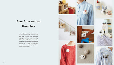 Pom Pom Animals: 45 Easy and Adorable Projects Made from Wool