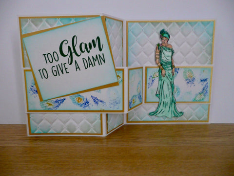 Crafter's Companion Clear Acrylic Stamp - Too Glam