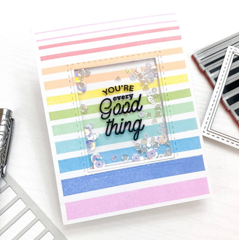Pinkfresh Studio - Colorblock: Gradiating Stripes Cling Stamp