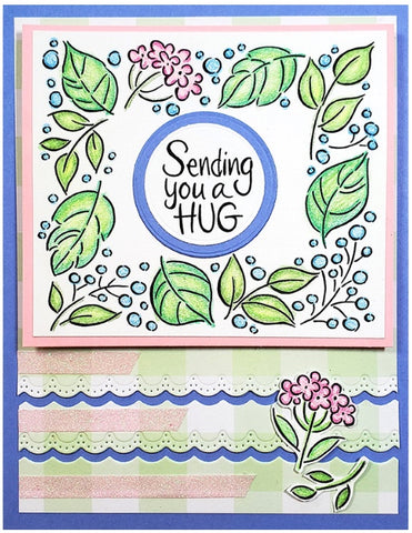 Stampendous - Leafy Frame Perfectly Clear Stamps Set