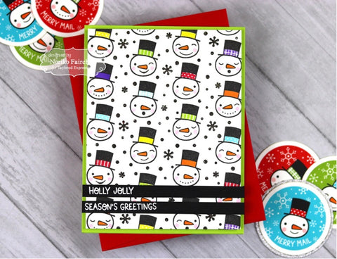 Taylored Expressions - Frosty Background Cling & Clear Stamps Combo