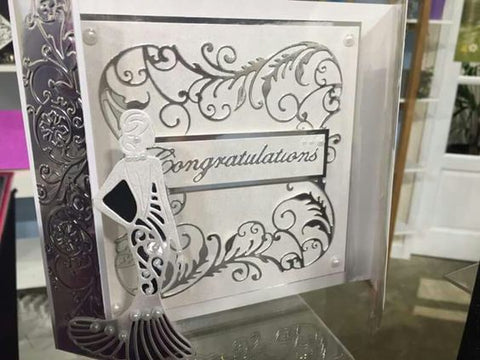 Crafters Companion Sara Signature Collection Glamour Metal Die - Congratulations