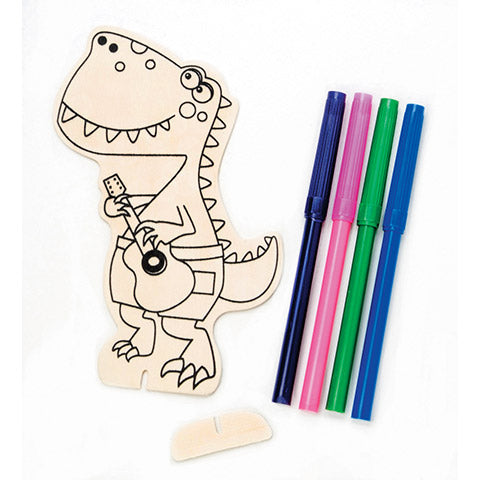 Darice® - Wood Craft Pack with Markers - Dinosaur - Makes 1